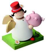 Schutzengel mit Glücksschwein