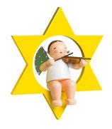 Engelmusikant, groß, im Stern, mit Geige