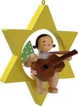 Engelmusikant, im Stern, mit Gitarre