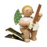 Engelmusikant auf Klemme, mit Banjo