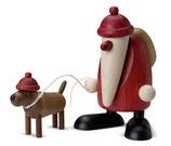 Weihnachtsmann mit Dackel Waldemar, klein