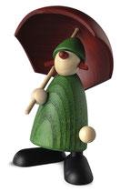 Louise, grün, mit rotem Schirm