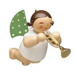 Engelmusikant, schwebend, mit Trompete
