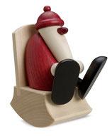 Weihnachtsmann im Schaukelstuhl, klein