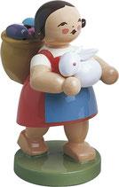 W & K Mädchen mit Eierkorb und Hase
