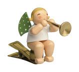 Engelmusikant auf Klemme, mit Fanfare