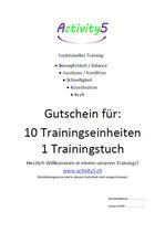 Gutschein für 10 Trainingseinheiten und 1 Trainingstuch