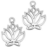 Lotusblüte Silber