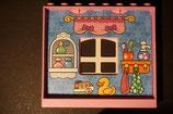 Duplo rosa  Hauswand einzeln mit Fenster und Tapete