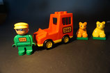 Duplo Zoowagen mit Wärter und 2 Tigerbabies (mit Gebrauchsspuren)