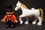 Duplo Zirkusdirektor auf Pferd