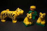 Duplo Tigermutter mit 2 Kindern und Wärter als Set