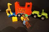 Duplo Jeep mit Circusanhänger als Set