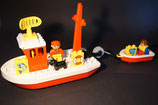 Duplo Schiff mit Rettungsboot und Zubehör als Set