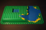 Duplo 3D-Bauplatte Wasserfall See Hügel  (mit Gebrauchsspuren)