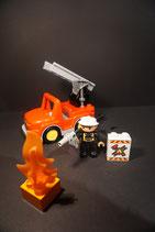 Duplo Feuerwehr Leiterwagen (neues Modell) als Set