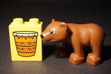 Duplo Bärenkind mit Motivstein