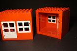 Duplo Haus mit Tür und Fenster 6x8 (Rückseite offen)