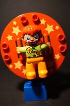 Duplo Zirkusrad-Drehscheibe mit Clown