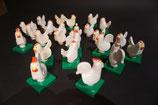 *Sale* Duplo 1 Hahn + 3 Hühner als Set (mit Gebrauchsspuren)