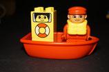 Duplo Ruderboot mit Kapitän als Set