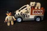 Duplo Zoowärter mit Zoowagen, kleinem Eisbären als Set