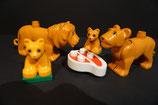 Duplo Löwenfamilie im Zoo (4 Tiere) als Set  mit geringen Gebrauchsspuren
