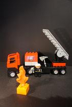 Duplo Feuerwehr Leiterwagen als Set