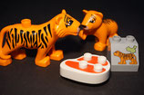 Duplo Tiger mit Kind, Fleisch und Motivstein