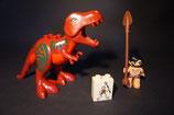 Duplo großer Dinosaurier mit Krieger als Set