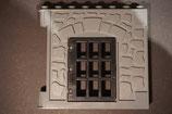 Duplo Hauswand 1-tlg. Burg dunkelgrau mit Gittertür schwarz