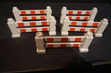 Duplo Hinderniszäune (5 Stück) rot/weiß