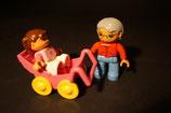 Duplo Oma/Opa mit Kinderwagen
