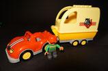 Duplo Auto mit Bauer und Pferdeanhänger