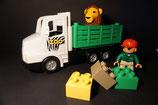 Duplo Zoowärter mit Zoowagen, Löwe und 3 Steinen als Set