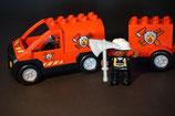 Duplo Feuerwehrwagen mit Anhänger als Set