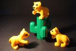 Duplo 3 Löwenbabies mit Kaktus als Set