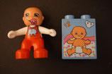 Duplo Baby mit Motivstein Baby