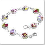 Armband - Bunte Blumen