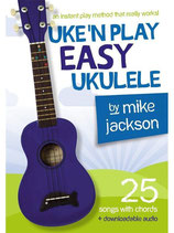 Uke'N Play Easy Ukulele by Mike Jackson, Downloadable audio, Free shipping