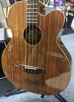 ACOUSTIC ELECTRIC BASS GUITAR MARTINEZ with HARD CASE