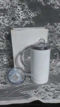 12 oz - 2 in 1 Stainless Sippy Cup Coated White For Sublimation