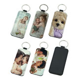 PU Leather Sublimation Key Chain-Rectangle