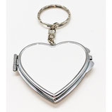 Heart Compact Sublimation Key Chains