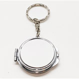 Round Compact Sublimation Key Chains