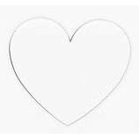 Heart Shaped Sublimation Magnet
