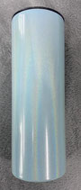 20 OZ Straight Skinny Blue Pearlescent Sublimation Tumbler