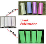 20 Oz Straight Skinny Sublimation - Blue UV Changing & Green Glow in the dark