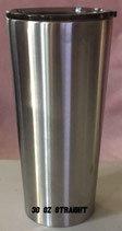 30 oz Straight Tapered Stainless Tumbler - Case of 25