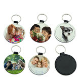 PU Leather Sublimation Key Chain-Round